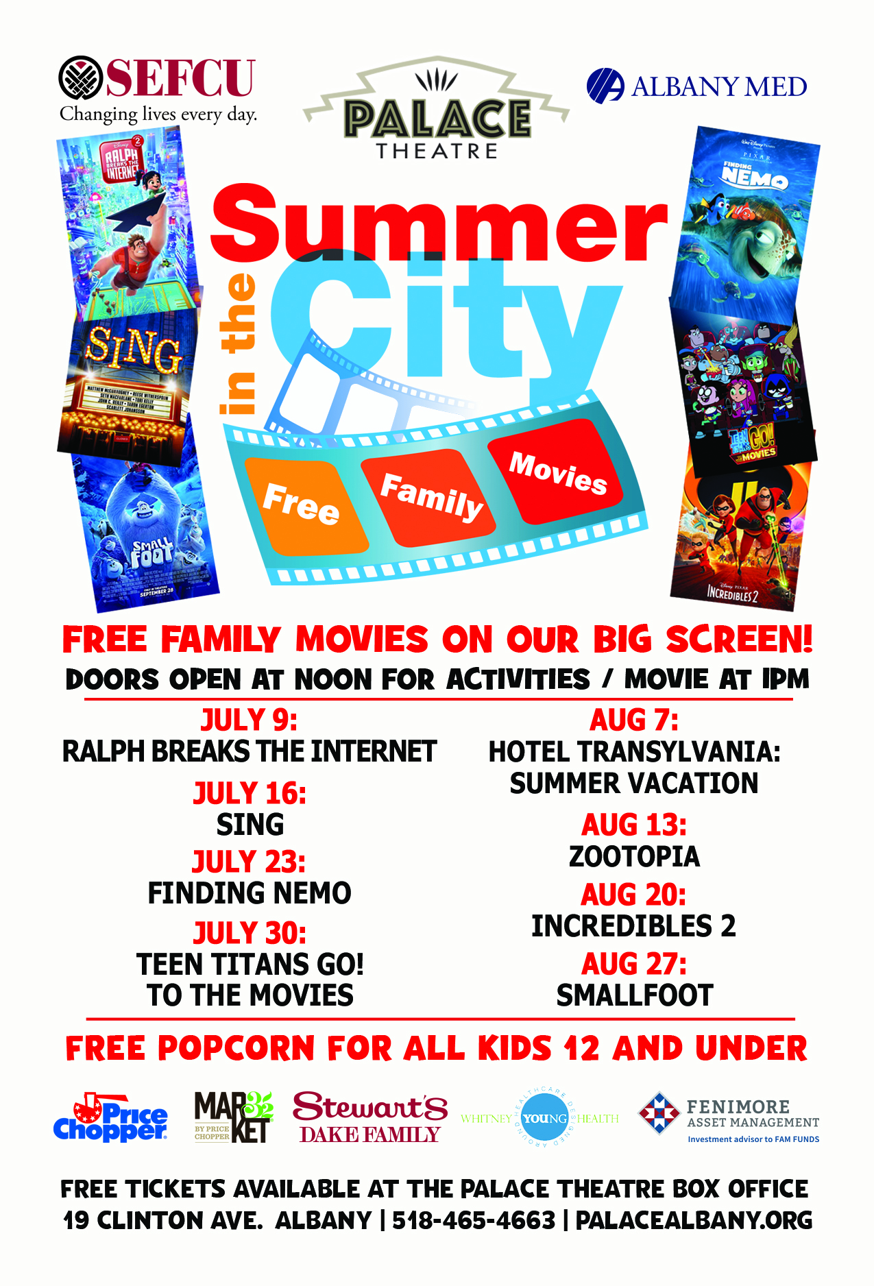 Palace Announces 5th Annual Free Summer Movie Series